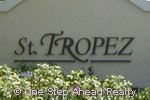 sign for St. Tropez