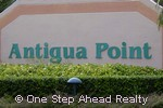 sign for Antigua Point