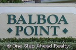 sign for Balboa Point