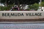 sign for Bermuda Village